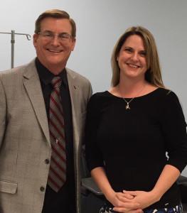 Dr Frank Mueller and Kim Engelman